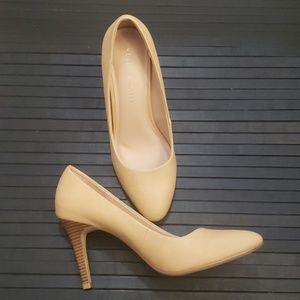 Kelly & Katie New Nude Heels Wood KK Tiana